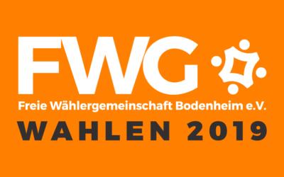 Amtliches Endergebnis Kommunalwahl 2019 – FWG sagt Danke